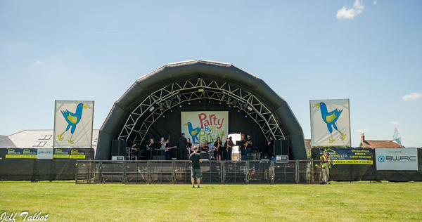 Party by the parrett music stage summer day